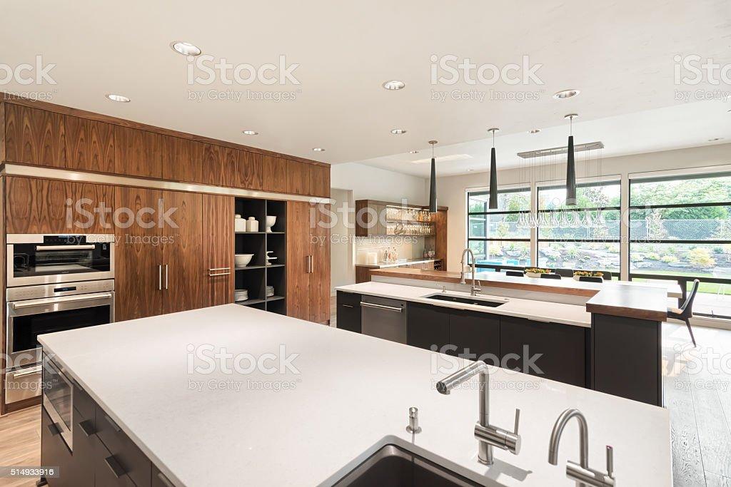 Kitchen Interior  in New Luxury Home stock photo