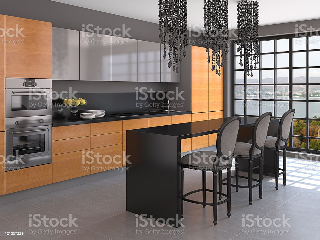 Kitchen interior. royalty-free stock photo
