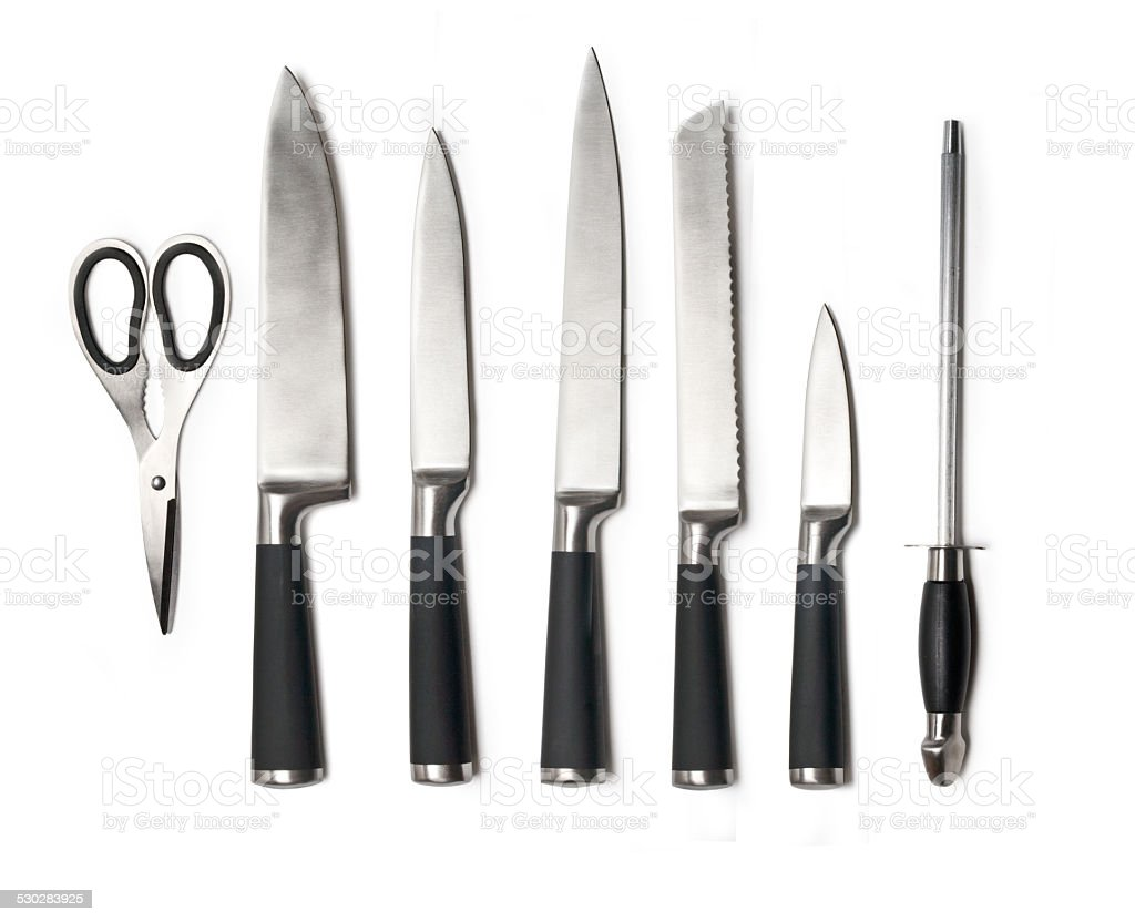 kitchen knife  set stock photo