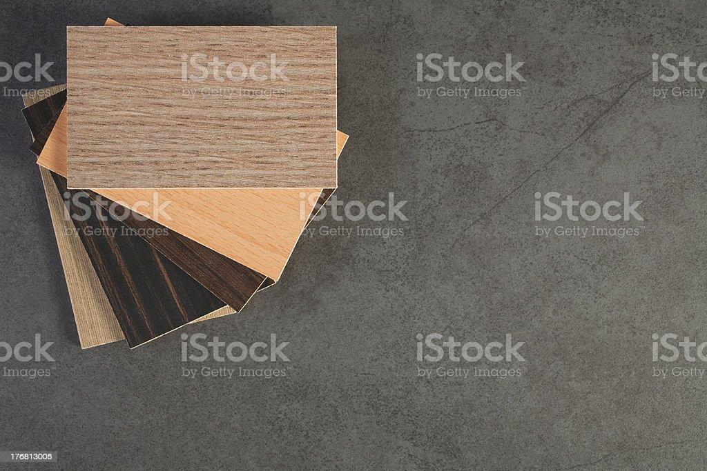 Kitchen Laminated Finishes on Tile Background royalty-free stock photo