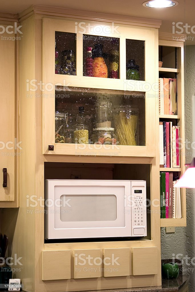 Kitchen Microwave Cabinet royalty-free stock photo