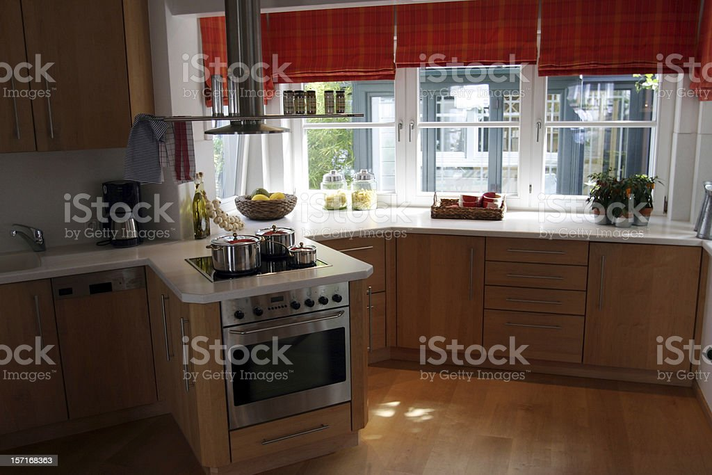 Kitchen on a sunny morning royalty-free stock photo
