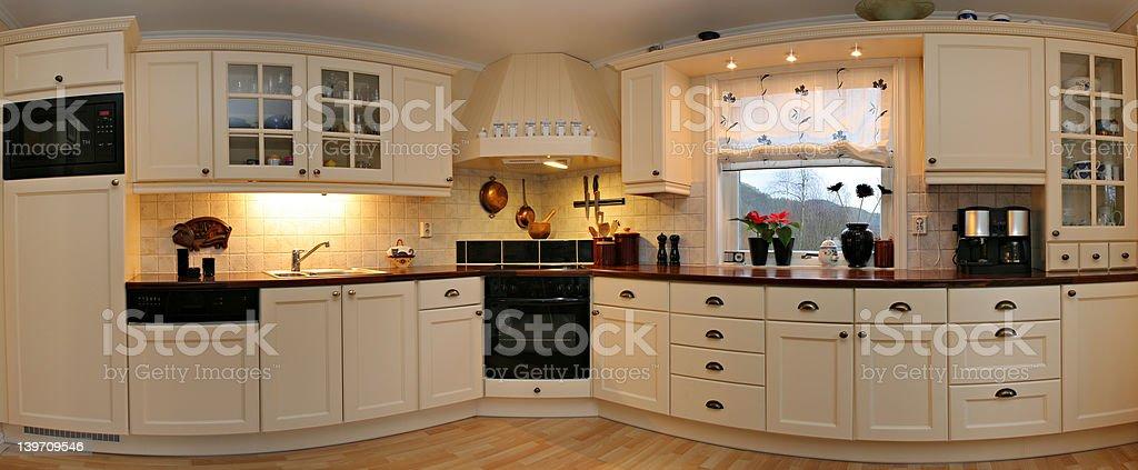 Kitchen Panorama stock photo