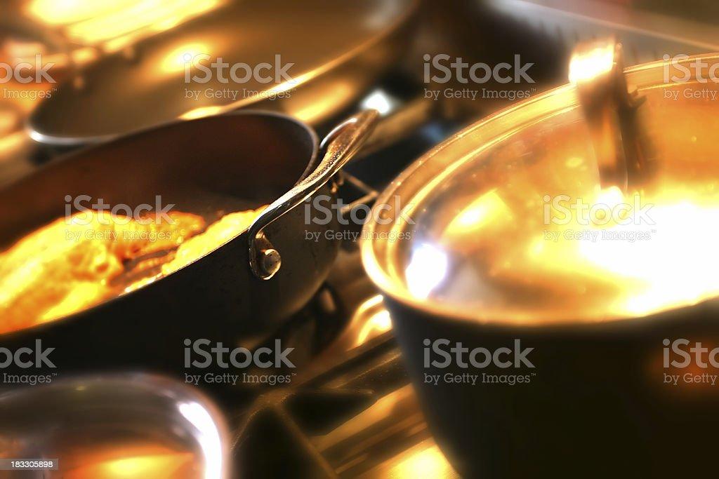 Kitchen pans royalty-free stock photo
