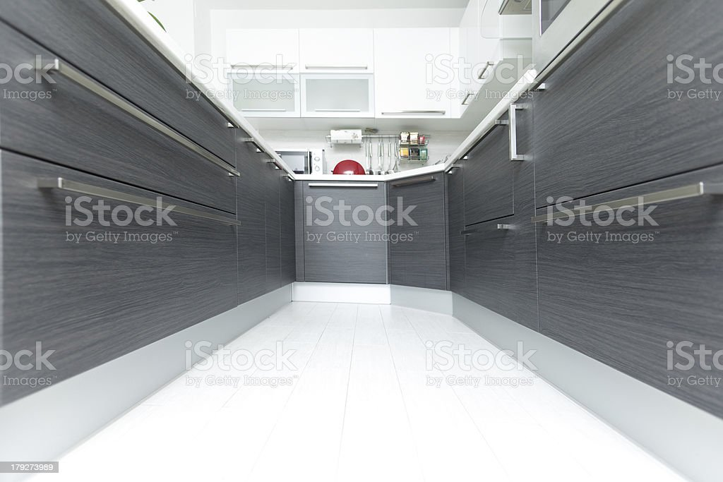 kitchen perspective royalty-free stock photo