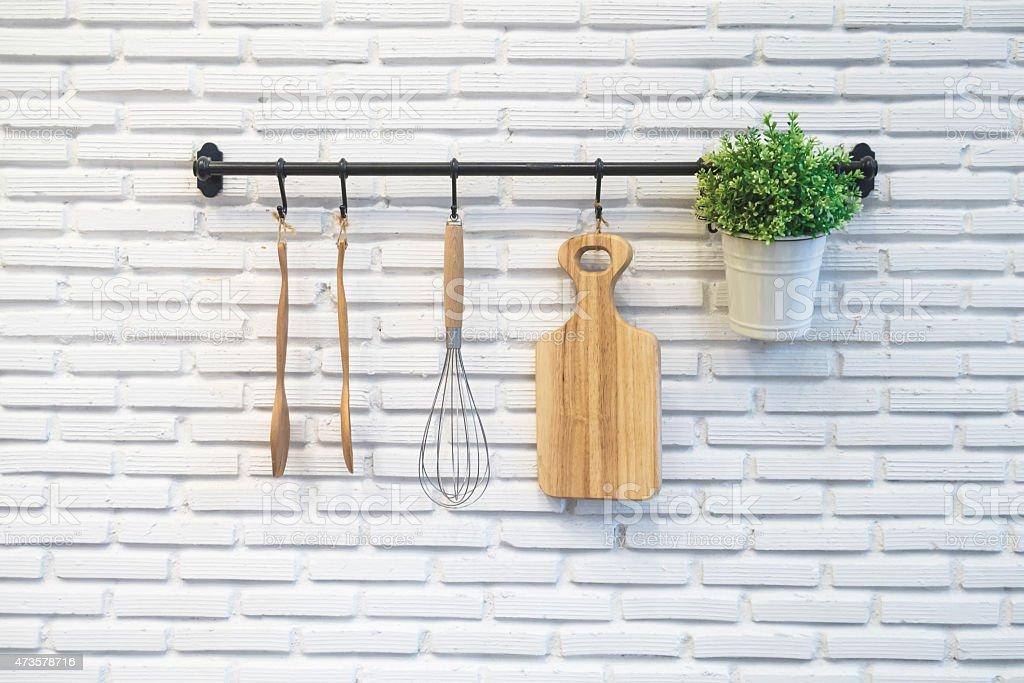 kitchen rack stock photo