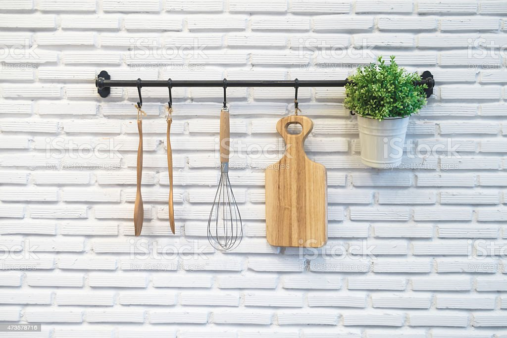 kitchen rack stock photo