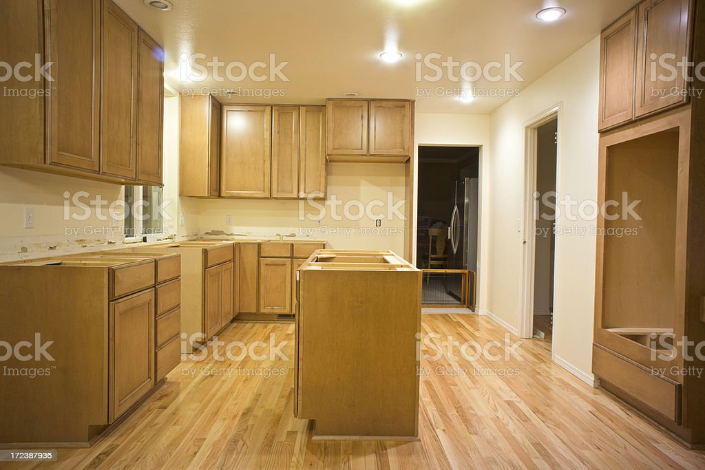 Kitchen Remodel With Cabinets royalty-free stock photo