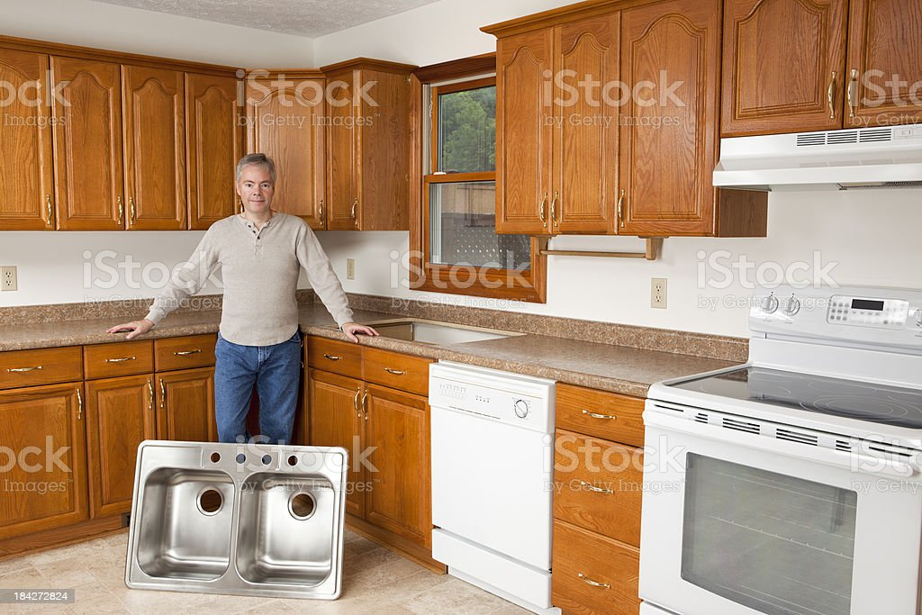 Kitchen Remodeling royalty-free stock photo