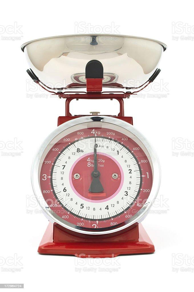 Kitchen scales royalty-free stock photo