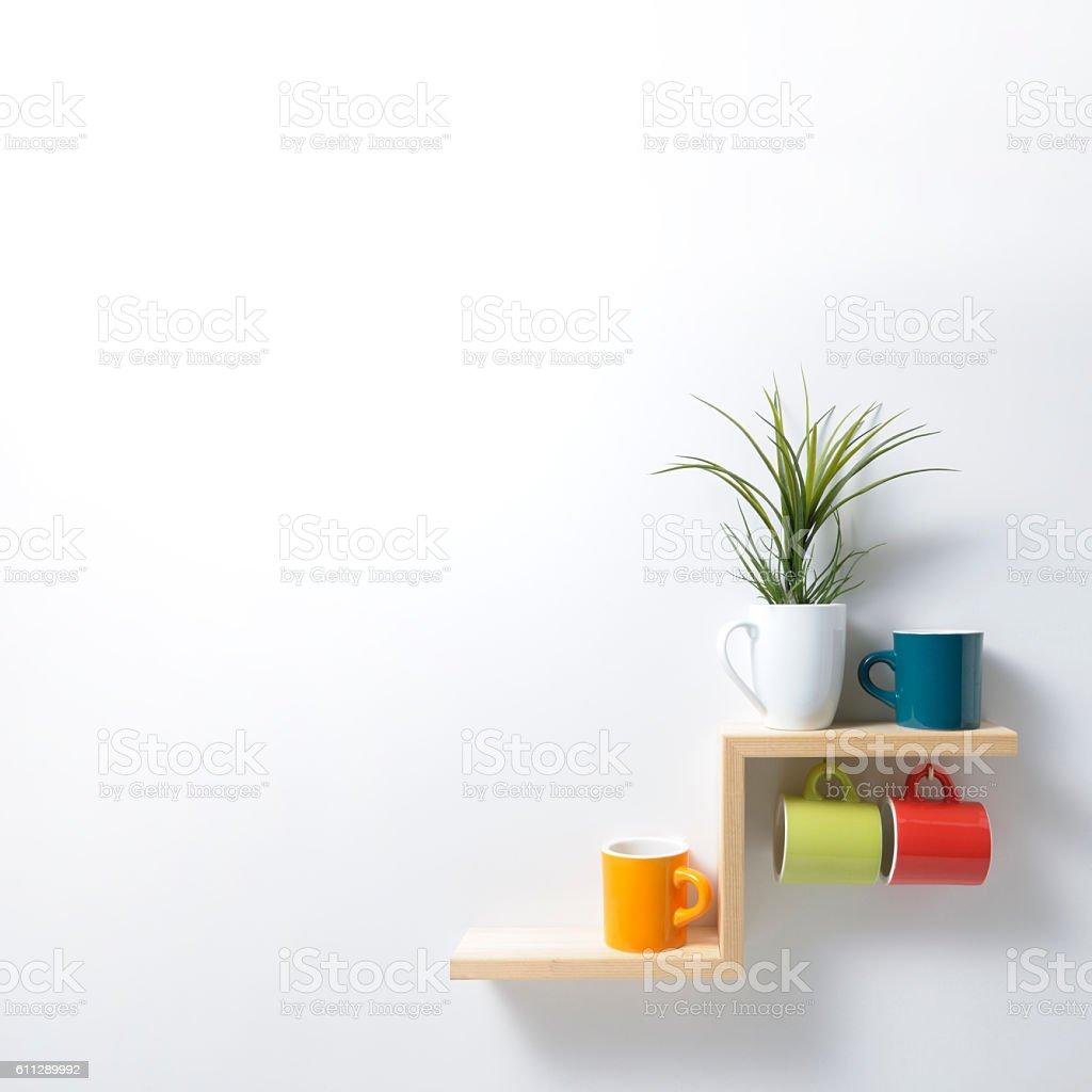 kitchen shelf stock photo