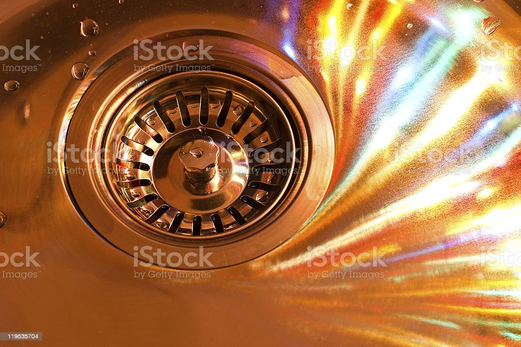 kitchen sink and color swirl stock photo