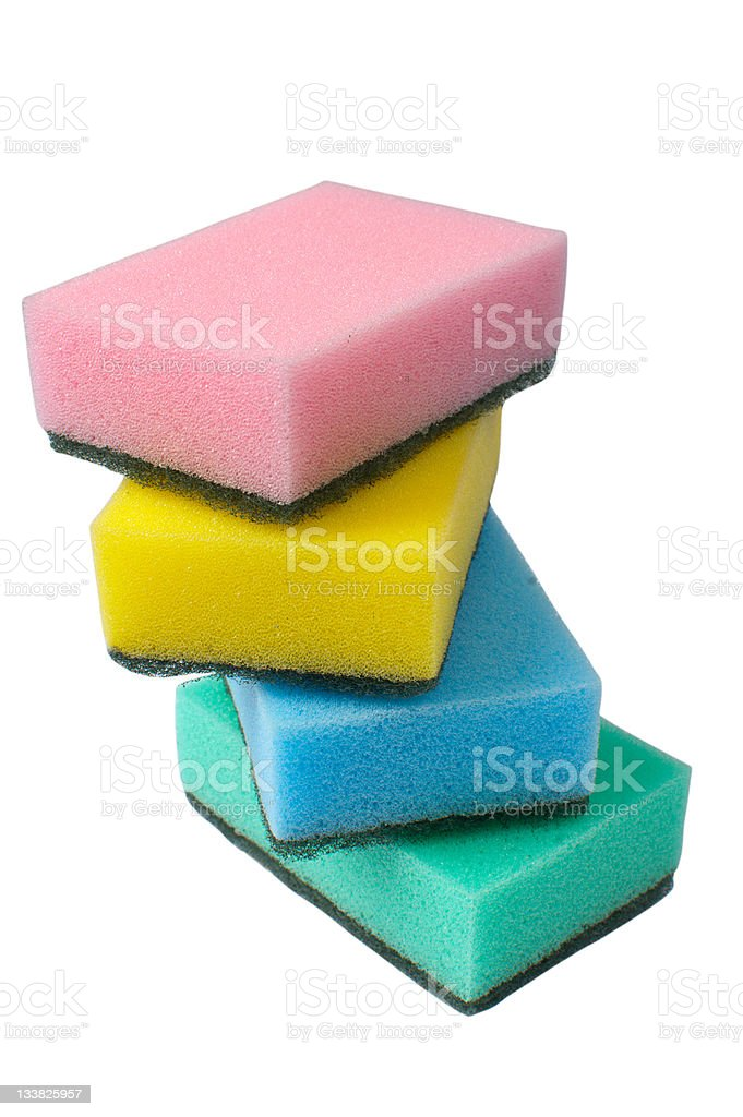 kitchen sponges royalty-free stock photo