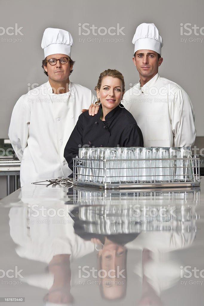 Kitchen staff royalty-free stock photo