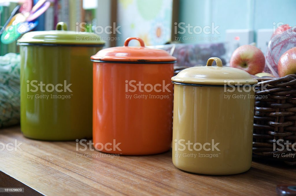 Kitchen Storage Tins royalty-free stock photo