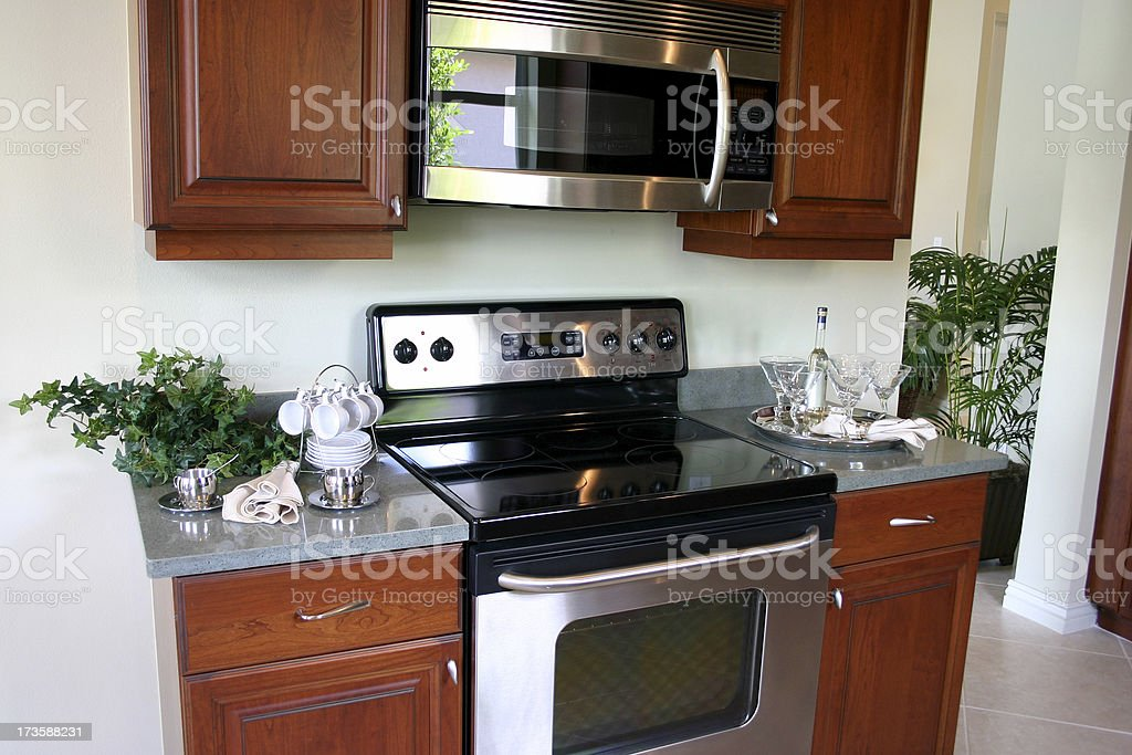 Kitchen Stove, Oven & Microwave royalty-free stock photo