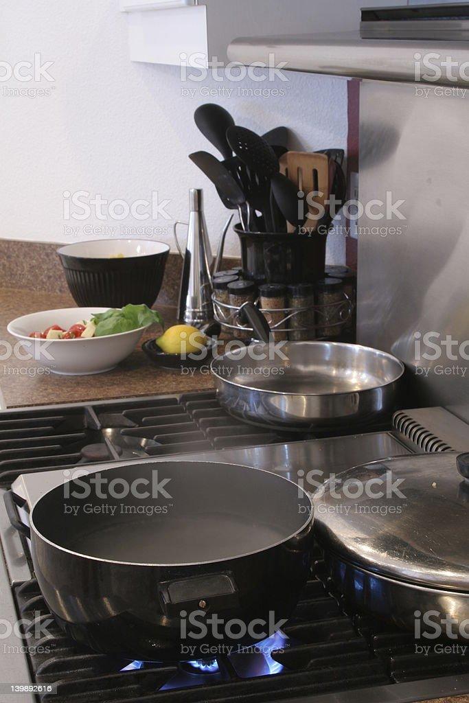Kitchen stove royalty-free stock photo