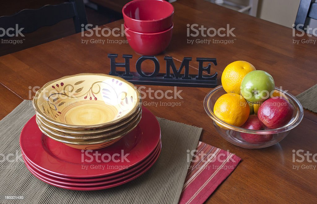 Kitchen table at home royalty-free stock photo