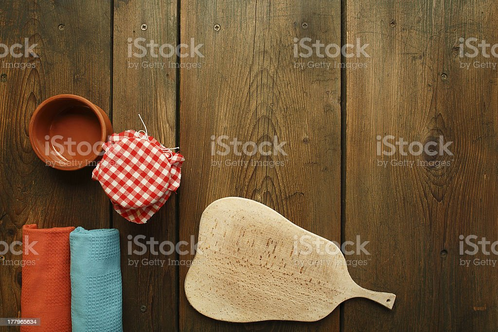 Kitchen table royalty-free stock photo