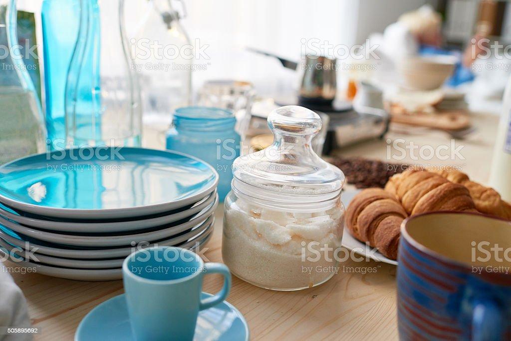 Kitchen table stock photo