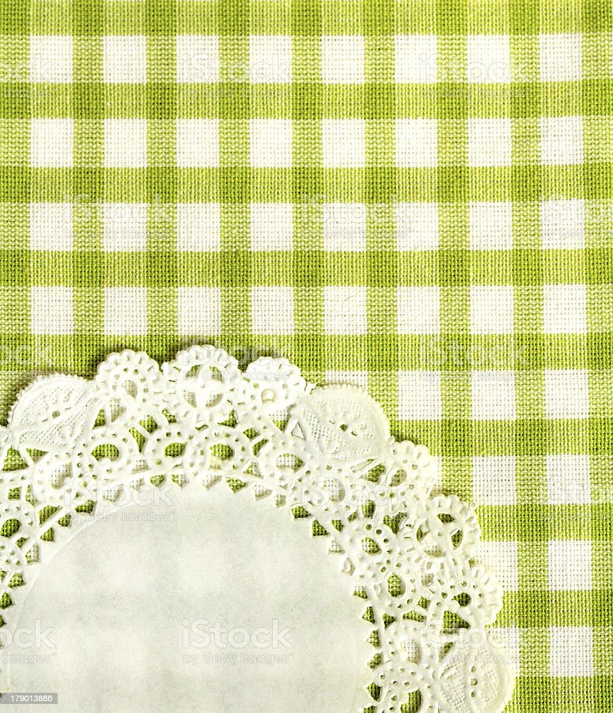kitchen towel in the green checkered royalty-free stock photo