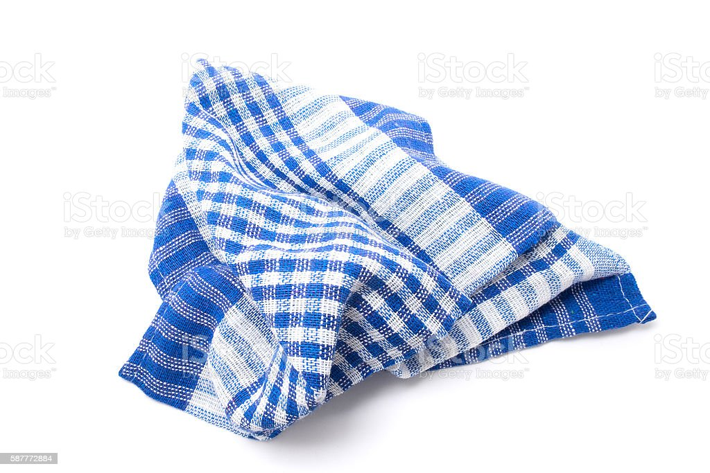 Kitchen towel. Isolated on white background stock photo