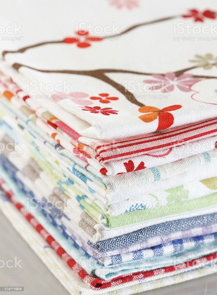 Kitchen towels royalty-free stock photo