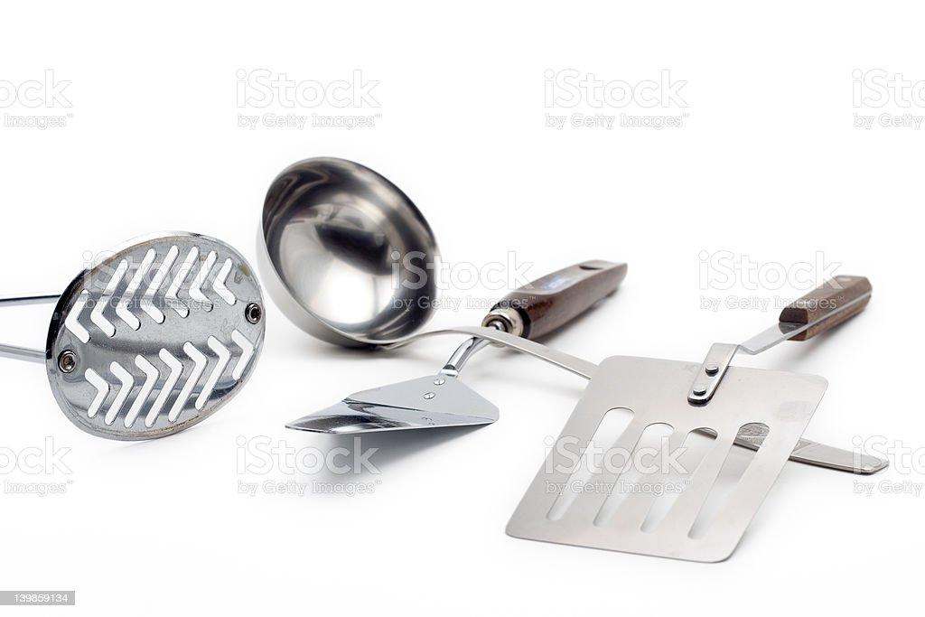 Kitchen utensil against white background royalty-free stock photo
