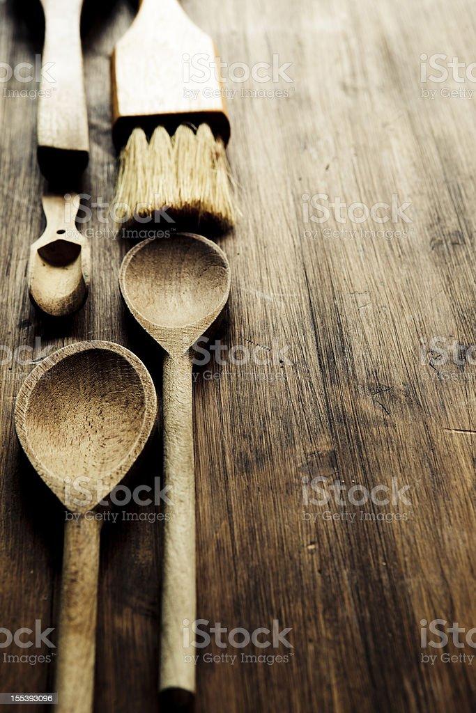 Kitchen Utensils Border stock photo