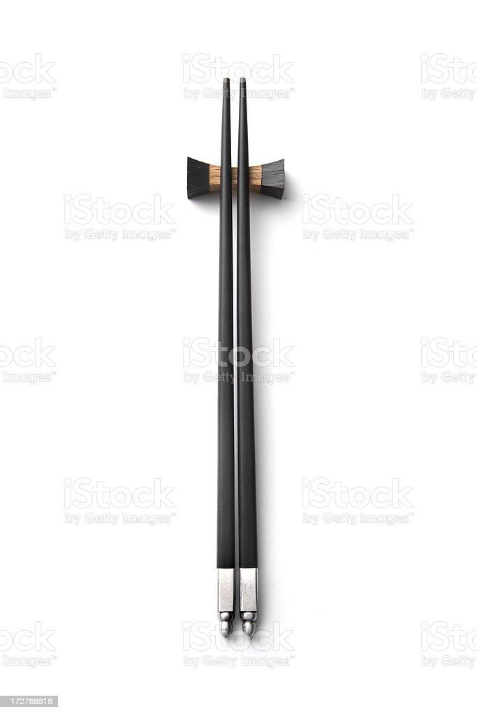 Kitchen Utensils: Chopsticks royalty-free stock photo