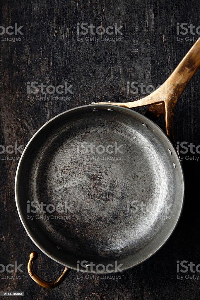 Kitchen utensils - Copper pot stock photo