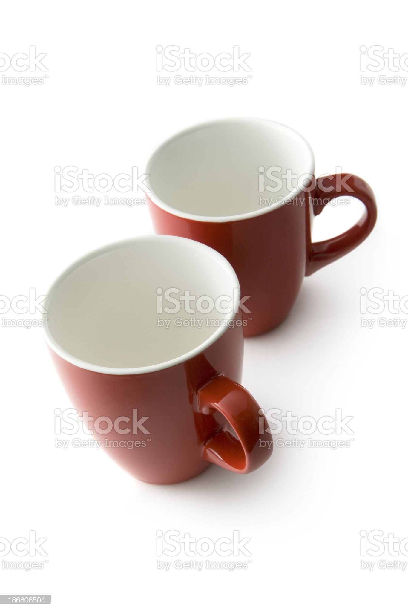 Kitchen Utensils: Empty Cups royalty-free stock photo