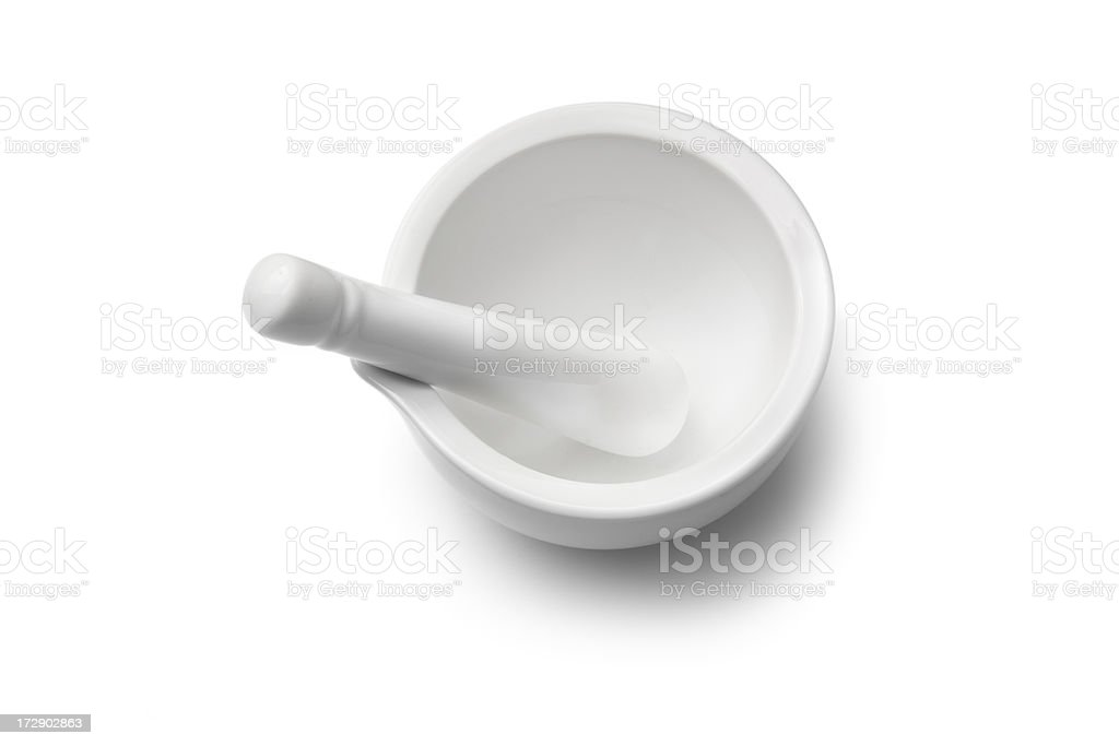 Kitchen Utensils: Mortar and Pestle stock photo