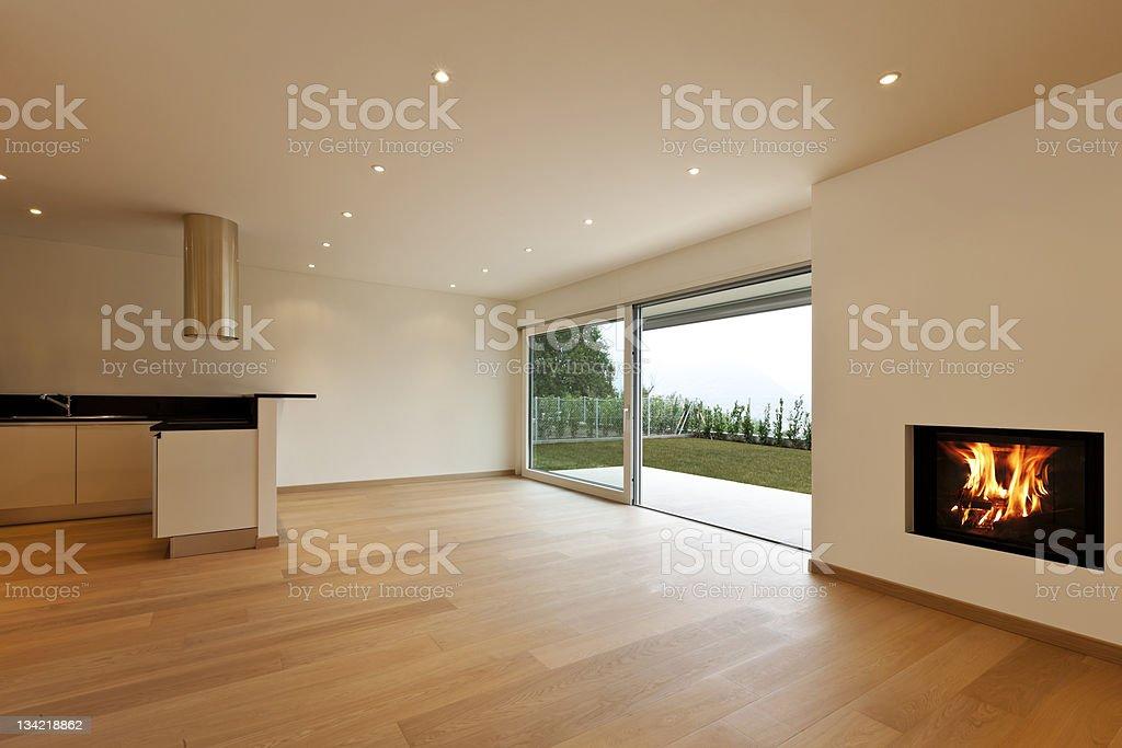kitchen view, fireplace royalty-free stock photo