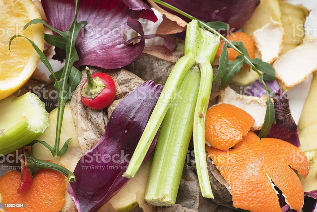 Kitchen waste for composting royalty-free stock photo