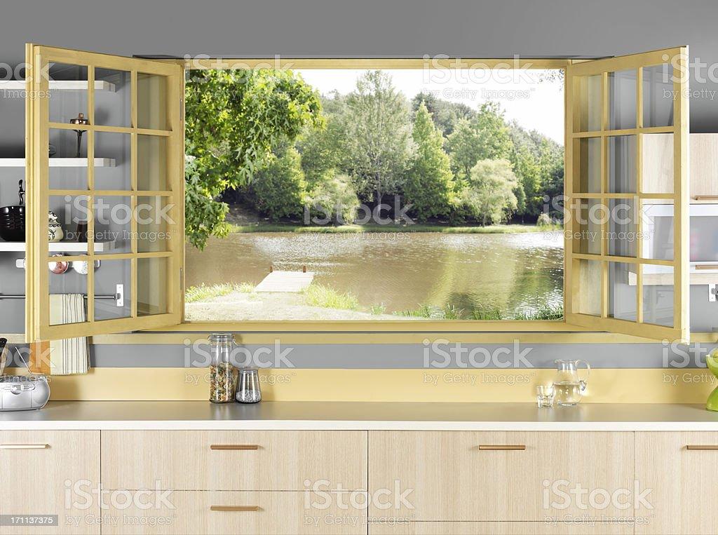Kitchen Window stock photo