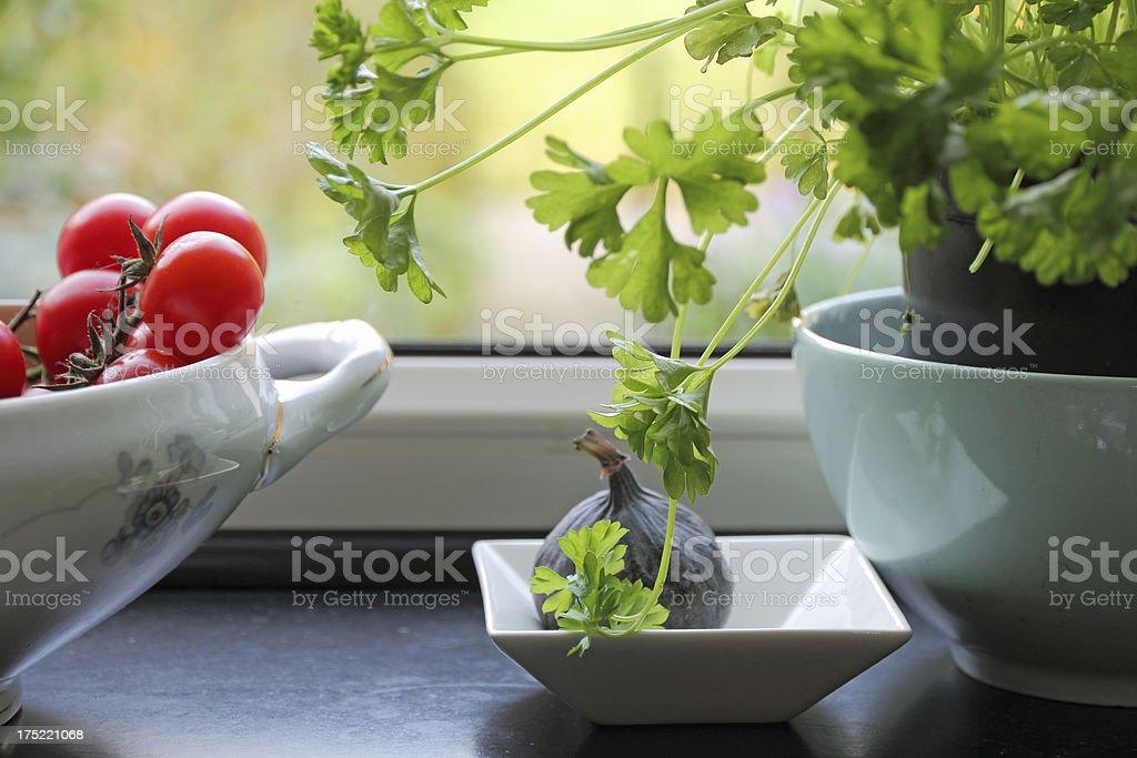 Kitchen window royalty-free stock photo