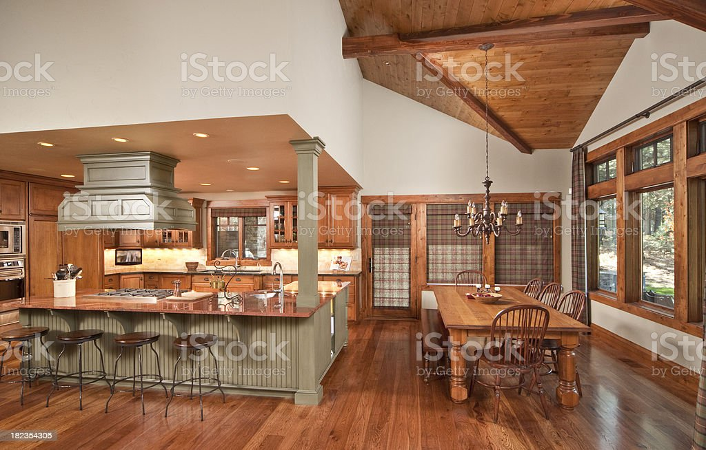 Kitchen with dining room royalty-free stock photo