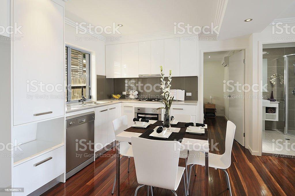 Kitchen wooden floor royalty-free stock photo