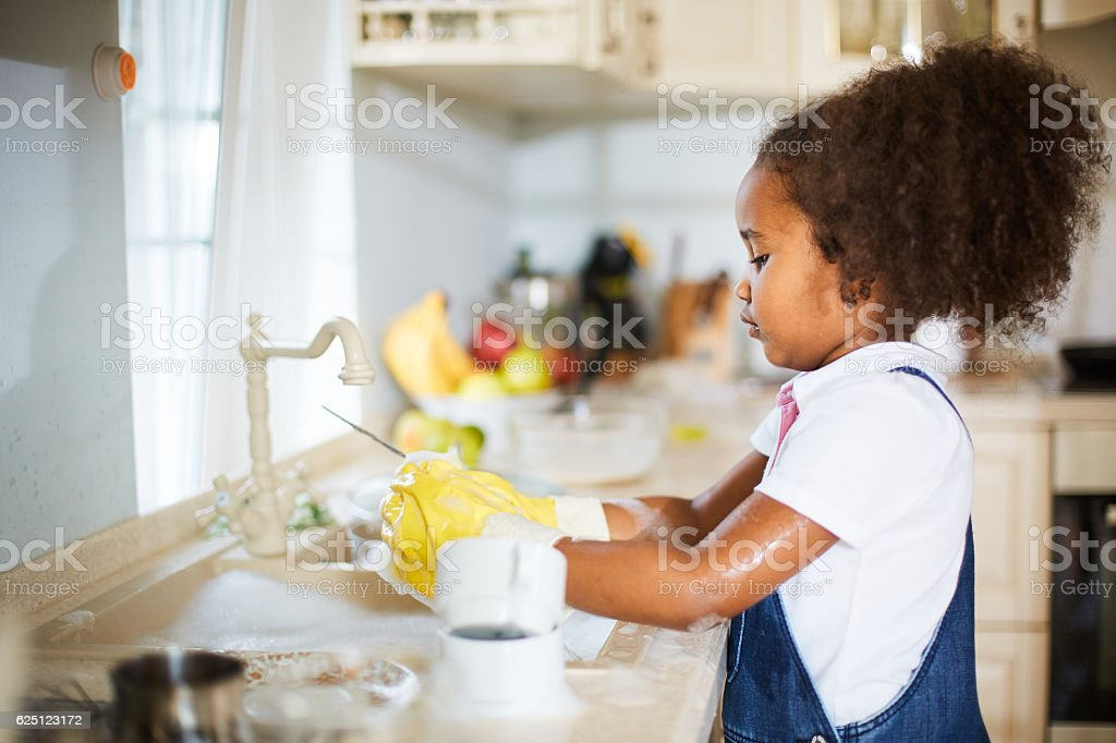 Kitchen work stock photo