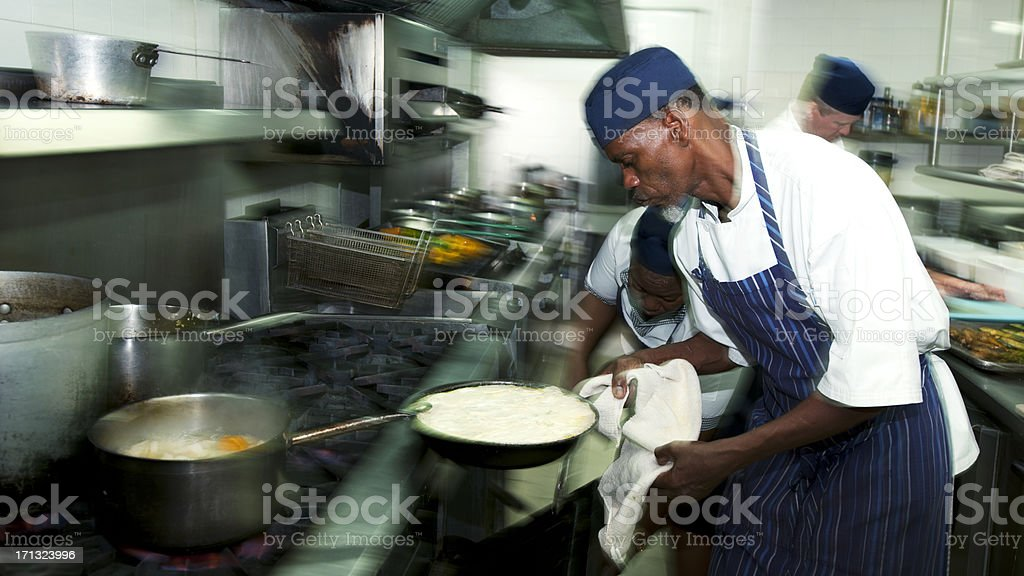 Kitchen Worker royalty-free stock photo