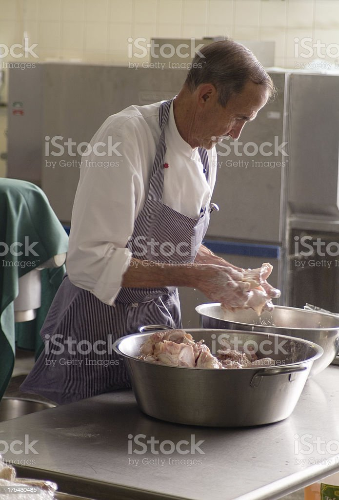 Kitchen Worker Series stock photo
