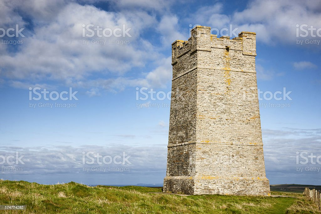 Kitchener Memorial Tower, Marwick Head, Orkney royalty-free stock photo