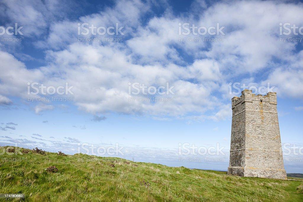 Kitchener Memorial Tower, Marwick Head, Orkney stock photo