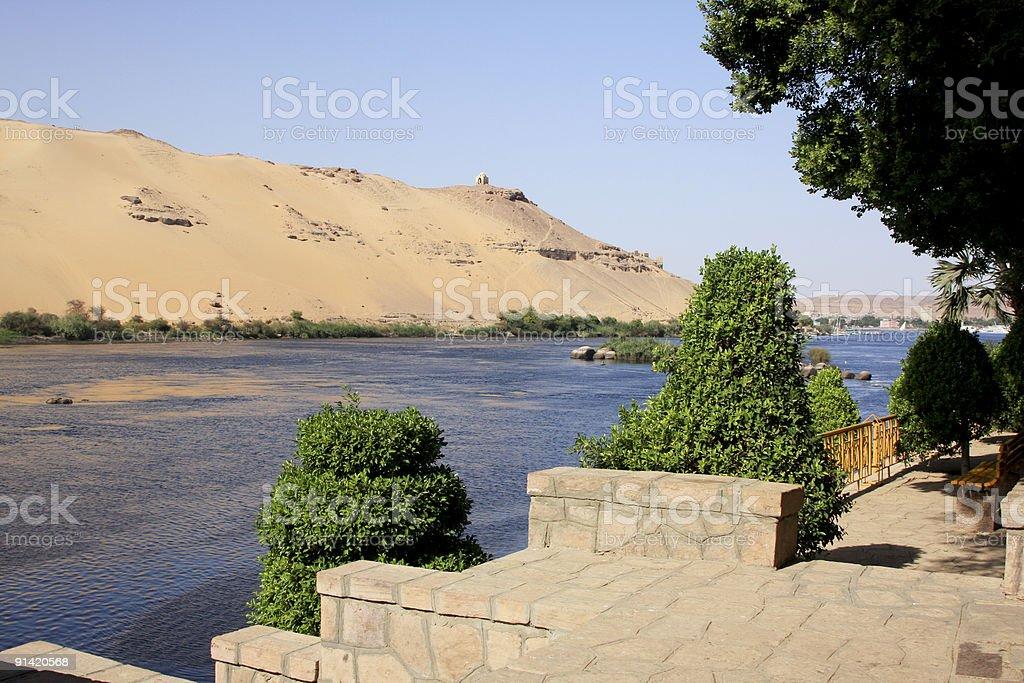 Kitchener's Island in Aswan, Egypt stock photo