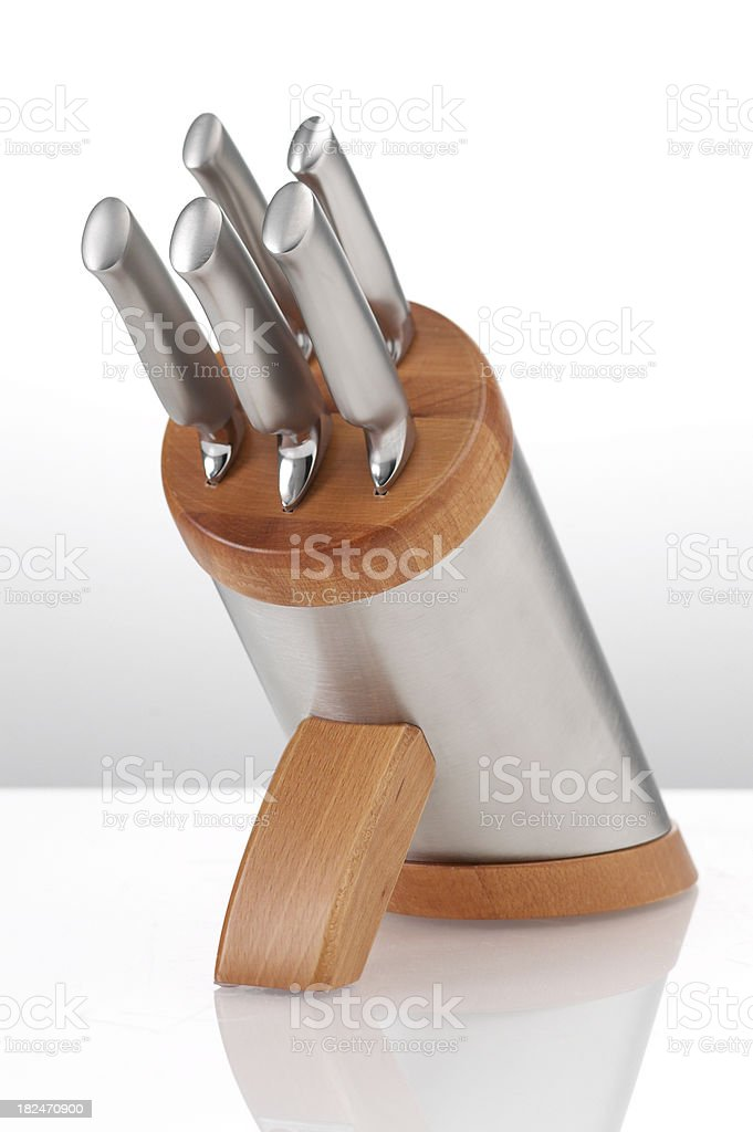 Kitchen-Knife Block A royalty-free stock photo