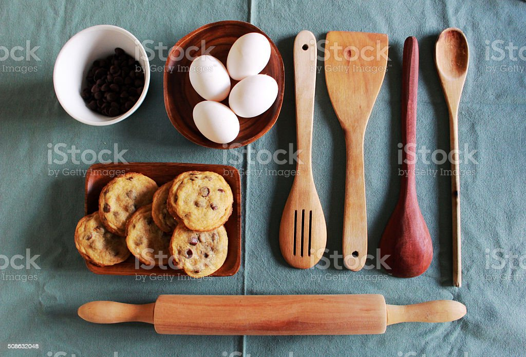 kitchenware for homemade pastry stock photo