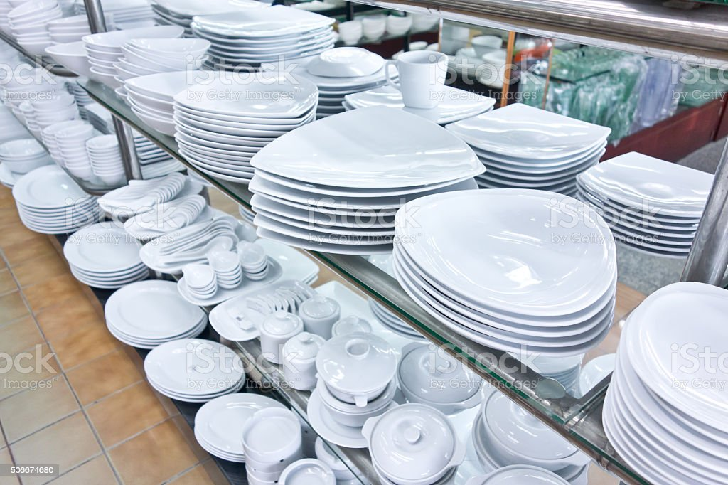 kitchenware shop stock photo