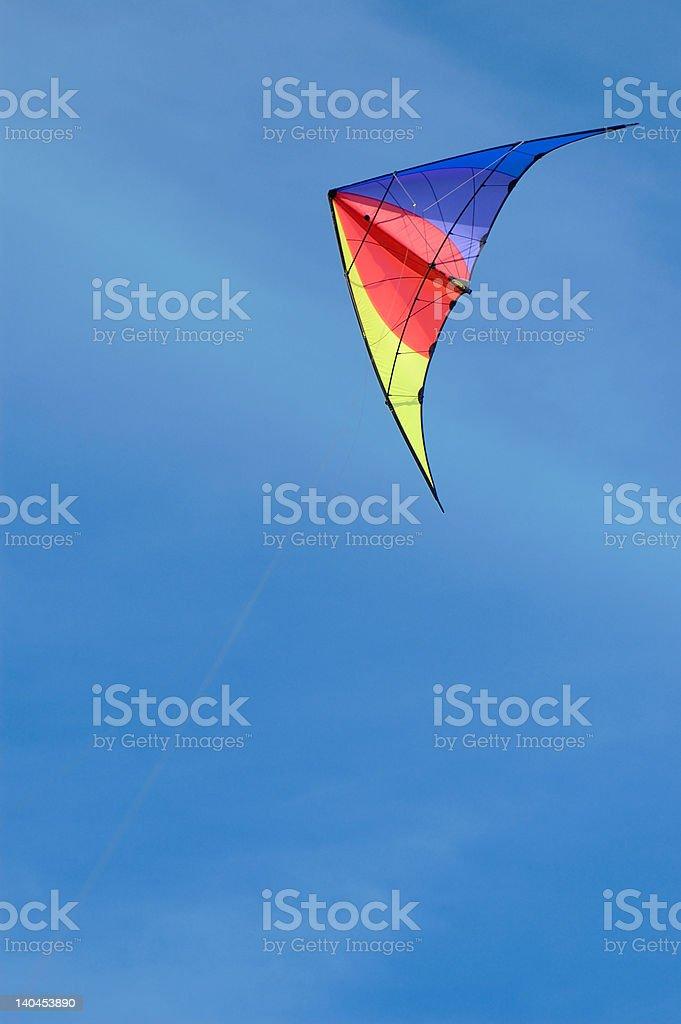 Kite against blue sky royalty-free stock photo