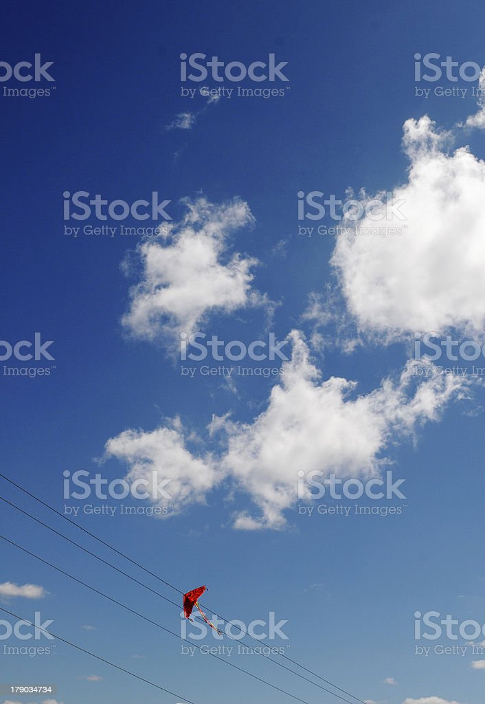 Kite and blue sky royalty-free stock photo